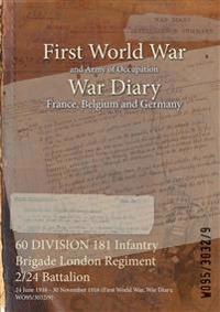 60 DIVISION 181 Infantry Brigade London Regiment 2/24 Battalion : 24 June 1916 - 30 November 1916 (First World War, War Diary, WO95/3032/9)