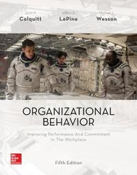 Organizational behavior: improving performance and commitment in the workpl