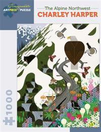 Charley Harper the Alpine Northwest 1000-Piece Jigsaw Puzzle Aa927