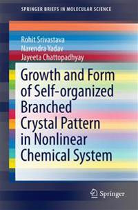 Growth and Form of Self-organized Branched Crystal Pattern in Nonlinear Chemical System