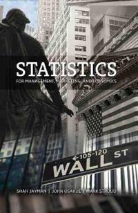 Statistics for Management Marketing and Economics