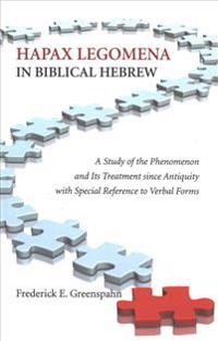 Hapax Legomena in Biblical Hebrew