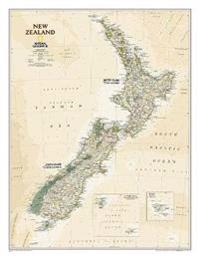New Zealand Executive Laminated National Maps Kartta