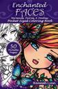 Enchanted Faces: Mermaids, Fairies, & Fantasy Pocket-Sized Coloring Book