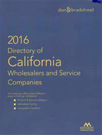 Directory of California Wholesalers and Service Companies 2016