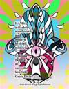 Hamsa Malarbok Manifestera Med Modern Kraftfull Monster + Symboler Gammal AV Surrealist Konstnar Grace Divine