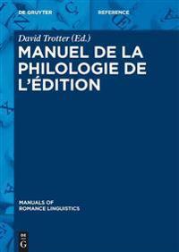 Manuel De La Philologie De L'edition