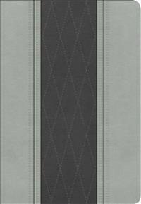 Rvr 1960 Biblia Letra Grande Tamano Manual, Gris Claro/Gris Carbon Simil Piel