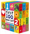 First 100 Board Book Box Set (3 Books): First 100 Words, Numbers Colors Shapes, and First 100 Animals