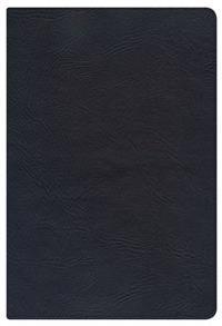 KJV Large Print Personal Size Reference Bible, Black Genuine Leather