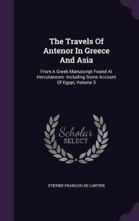 The Travels of Antenor in Greece and Asia
