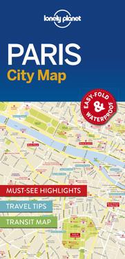 Lonely Planet Paris City Map Lonely Planet Kartta Viikattu
