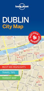 Lonely Planet Dublin City Map Lonely Planet Kartta Viikattu