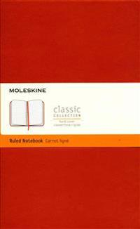 Moleskine Classic Notebook, Large, Ruled, Coral Orange