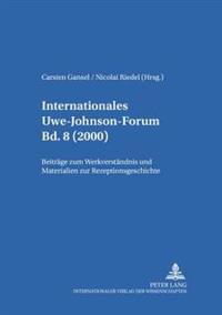 Internationales Uwe-Johnson-Forum- Bd. 8 (2000)
