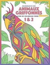 Livre de Coloriage Pour Enfants Animaux Griffonnes 1 & 2