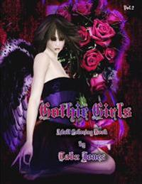 Gothic Girls Adult Coloring Book