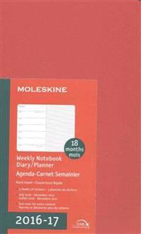 Moleskine 2016-2017 Weekly Notebook Diary / Planner, Large, Coral Orange