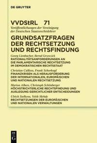 Grundsatzfragen Der Rechtsetzung Und Rechtsfindung