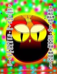 The Angry Pumpkin Owl Coloring Book in Chinese + Diary Learn Express Channel Difficult Emotions Create Art & Write
