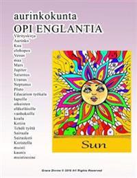 Aurinkokunta Opi Englantia Värityskirja Aurinko Kuu Elohopea Venus Maa Mars Jupiter Saturnus Uranus Neptunus Pluto Education Työkalu Lapsille Aikuiste