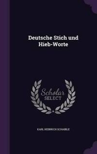 Deutsche Stich Und Hieb-Worte