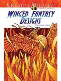 Creative Haven Winged Fantasy Designs Coloring Book