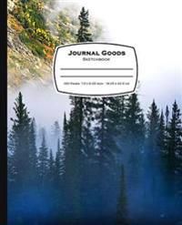Journal Goods Sketchbook: Pine Tree Mountain Design, 7.5 X 9.25, 160 Pages for Sketching, Drawing, Writing and More, Features Conversion Chart,