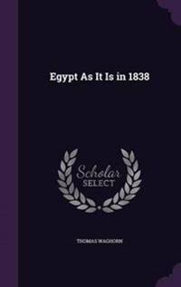 Egypt as It Is in 1838