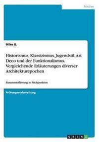 Historismus, Klassizismus, Jugendstil, Art Deco Und Der Funktionalismus. Vergleichende Erlauterungen Diverser Architekturepochen