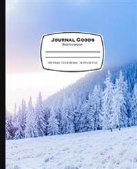 Journal Goods Sketchbook: Snow Mountain Design, 7.5 X 9.25, 160 Pages for Sketching, Drawing, Writing and More, Features Conversion Chart, Uniqu