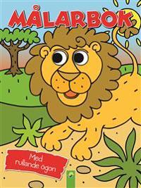 Målarbok lejon med rullande ögon