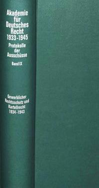 Ausschuesse Fuer Den Gewerblichen Rechtsschutz (Patent-, Warenzeichen-, Geschmacksmusterrecht, Wettbewerbsrecht), Fuer Urheber- Und Verlagsrecht Sowie
