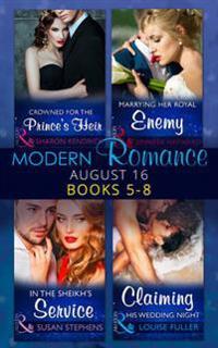 Modern Romance August 2016 Books 5-8