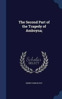 The Second Part of the Tragedy of Amboyna;