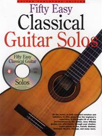 50 Easy Classical Guitar Solos W/CD