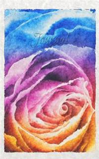 Journal: Rainbow Rose Watercolor