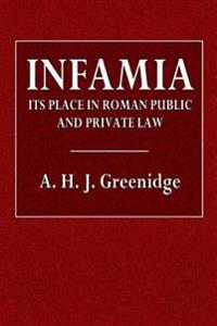 Infamia: Its Place in Roman Public and Private Law