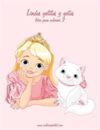 Lindos Gatitos y Gatos Libro Para Colorear 2
