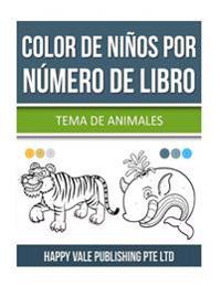 Color de Niños Por Número de Libro: Tema de Animales