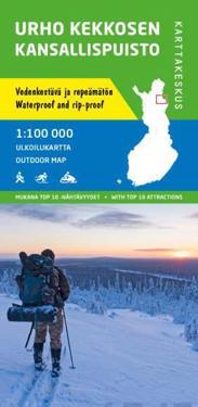 Urho Kekkosen kansallispuisto ulkoilukartta, 1:100 000
