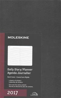 Moleskine 2017 Daily Planner, 12m, Large, Black