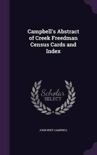 Campbell's Abstract of Creek Freedman Census Cards and Index