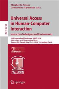 Universal Access in Human-computer Interaction