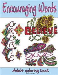 Adult Coloring Books: Encouraging Words