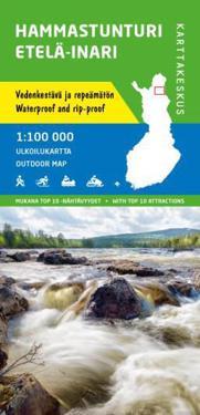 Hammastunturi - Etelä-Inari ulkoilukartta, 1:100 000
