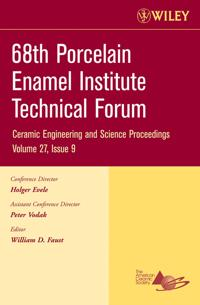 68th Porcelain Enamel Institute Technical Forum: A Collection of Papers Presented at the 68th Porcelain Enamel Institute Technical Forum, May 15-18, 2