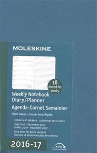 Moleskine 2016-2017 Weekly Notebook Diary / Planner, Pocket, Steel Blue