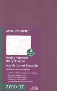 Moleskine 2016-2017 Weekly Notebook, 18m, Pocket, Grape Violet