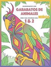 Garabatos de Animales Libro Para Colorear Para Ninos 1 & 2